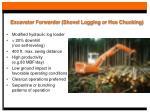 excavator forwarder shovel logging or hoe chucking