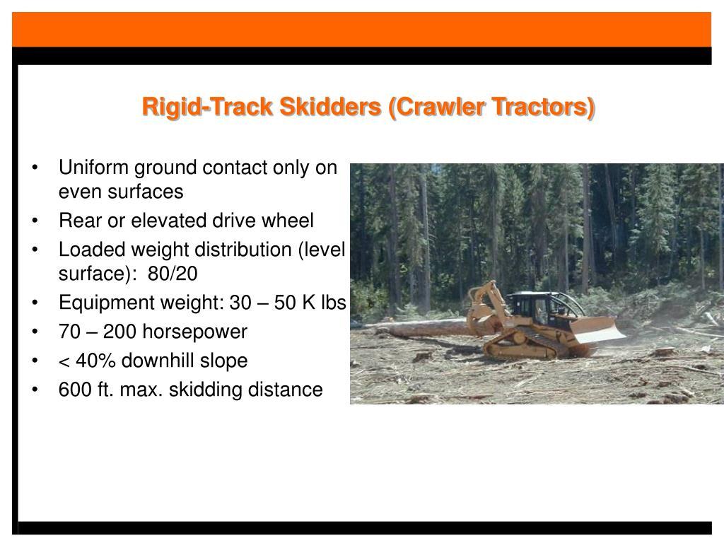 Rigid-Track Skidders (Crawler Tractors)