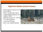 rigid track skidders crawler tractors