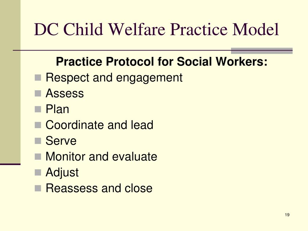 DC Child Welfare Practice Model