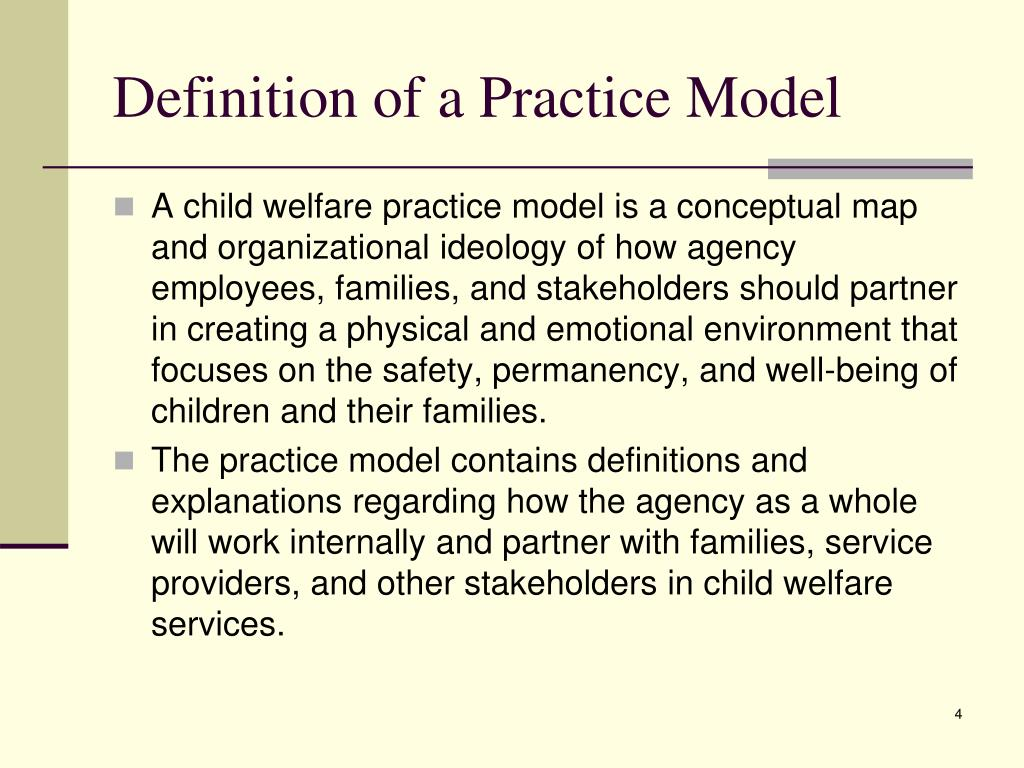 Definition of a Practice Model