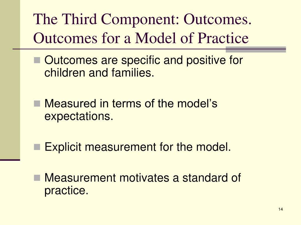 The Third Component: Outcomes.