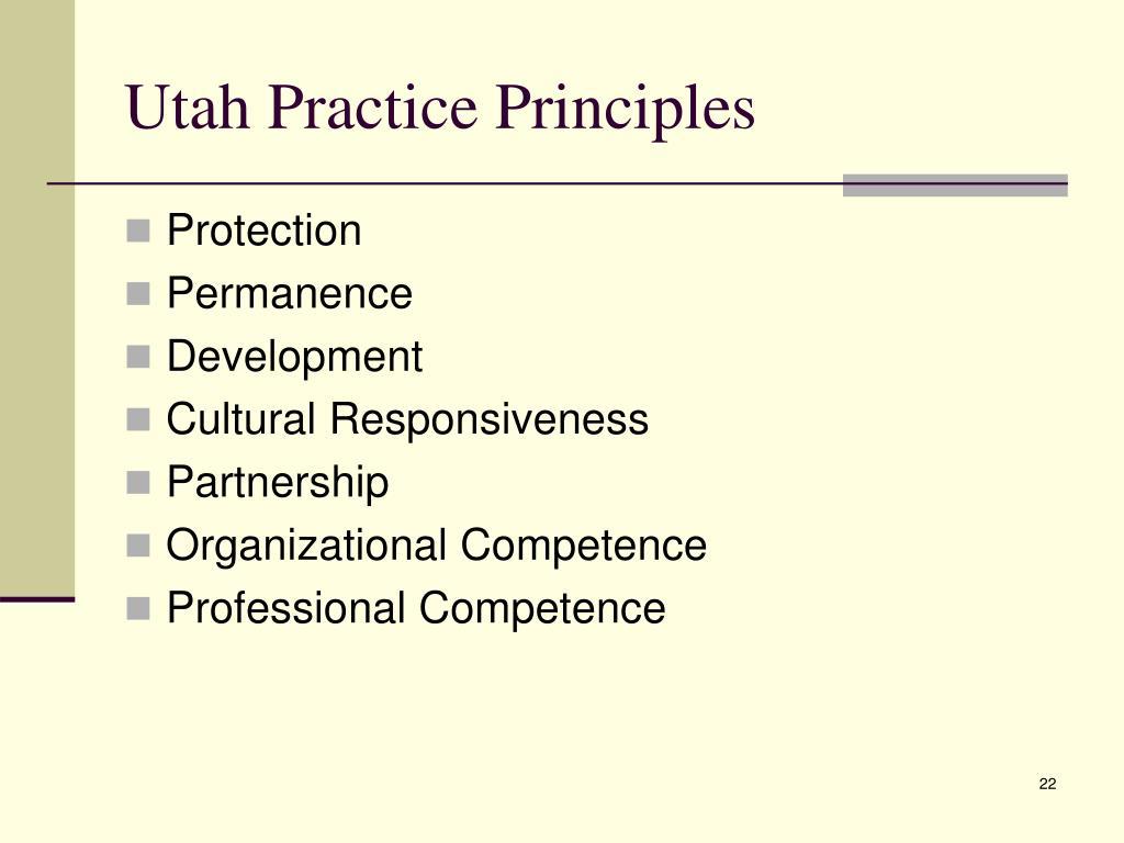 Utah Practice Principles