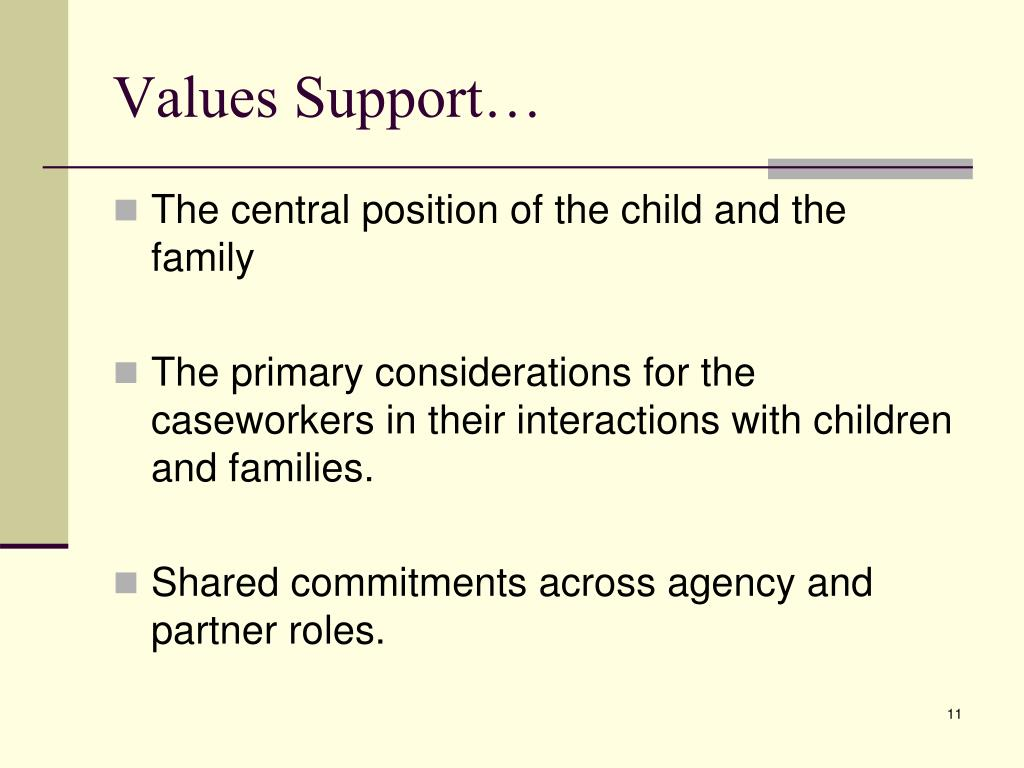 Values Support…