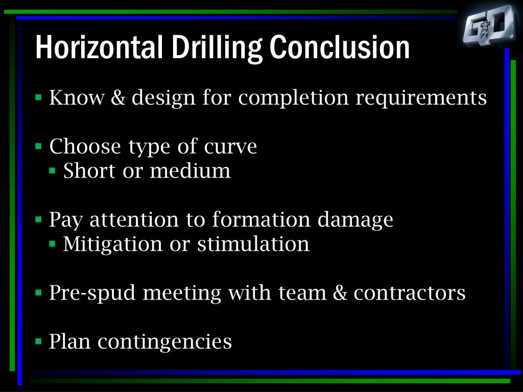 Horizontal Drilling Conclusion