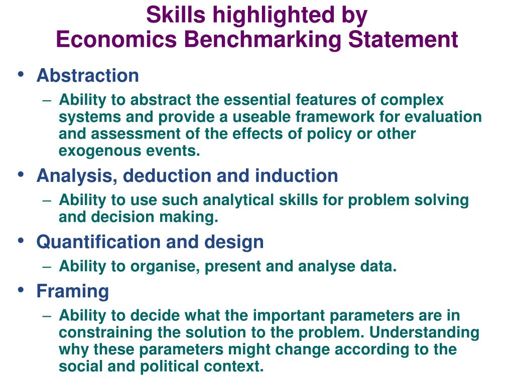 Skills highlighted by