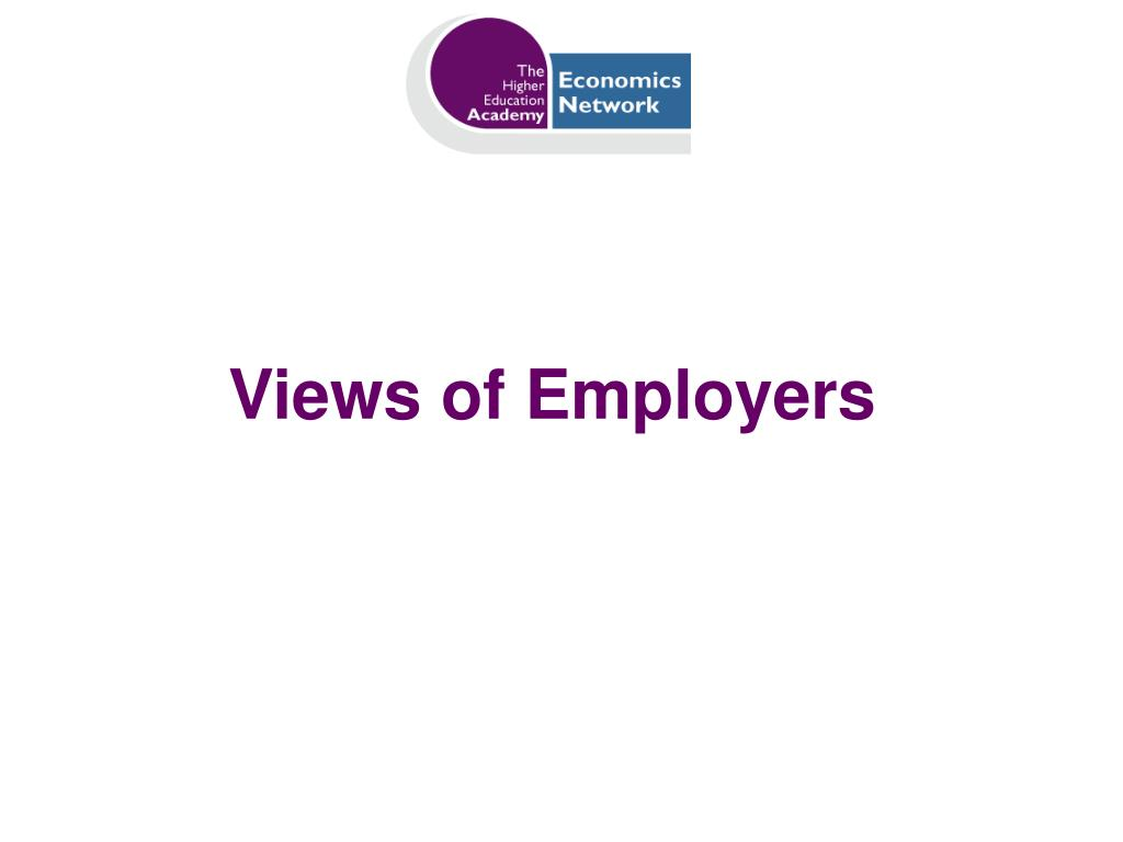 Views of Employers