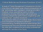 critical skills across business functions cont