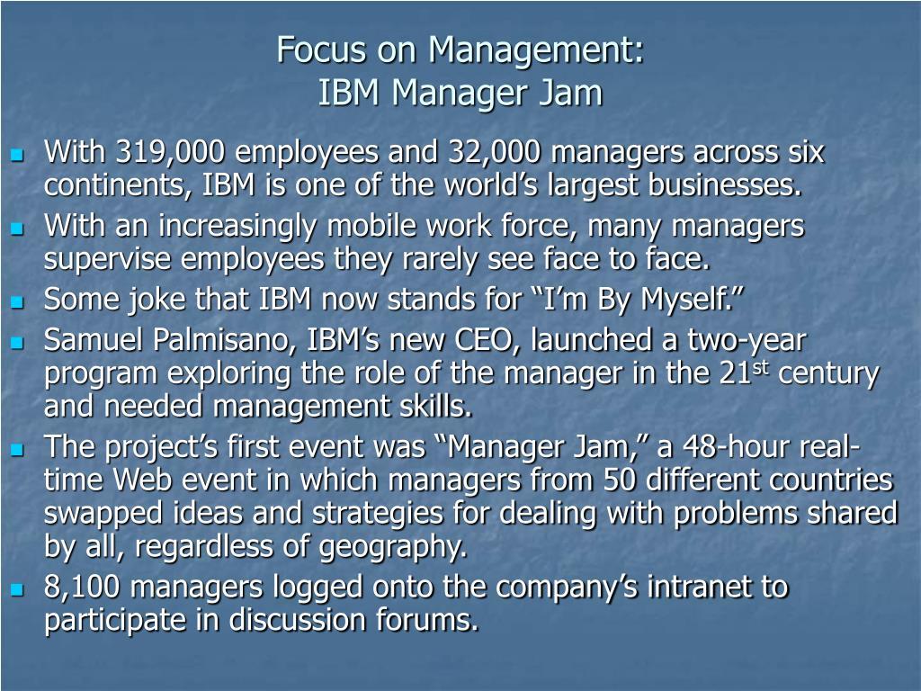 Focus on Management: