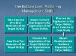the bottom line mastering management skills