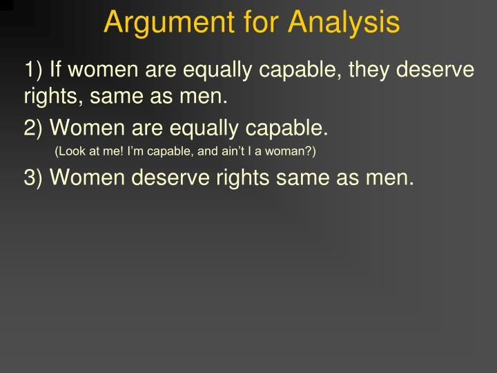 Argument for analysis3
