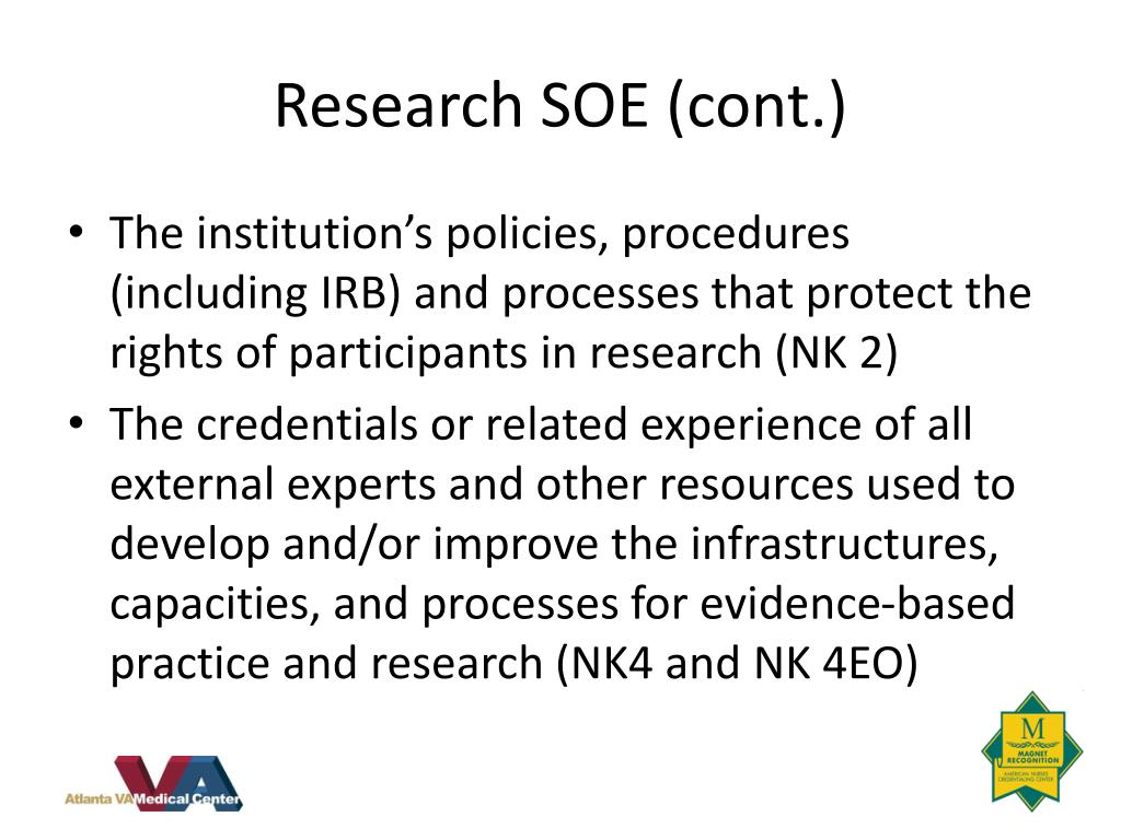 Research SOE (cont.)