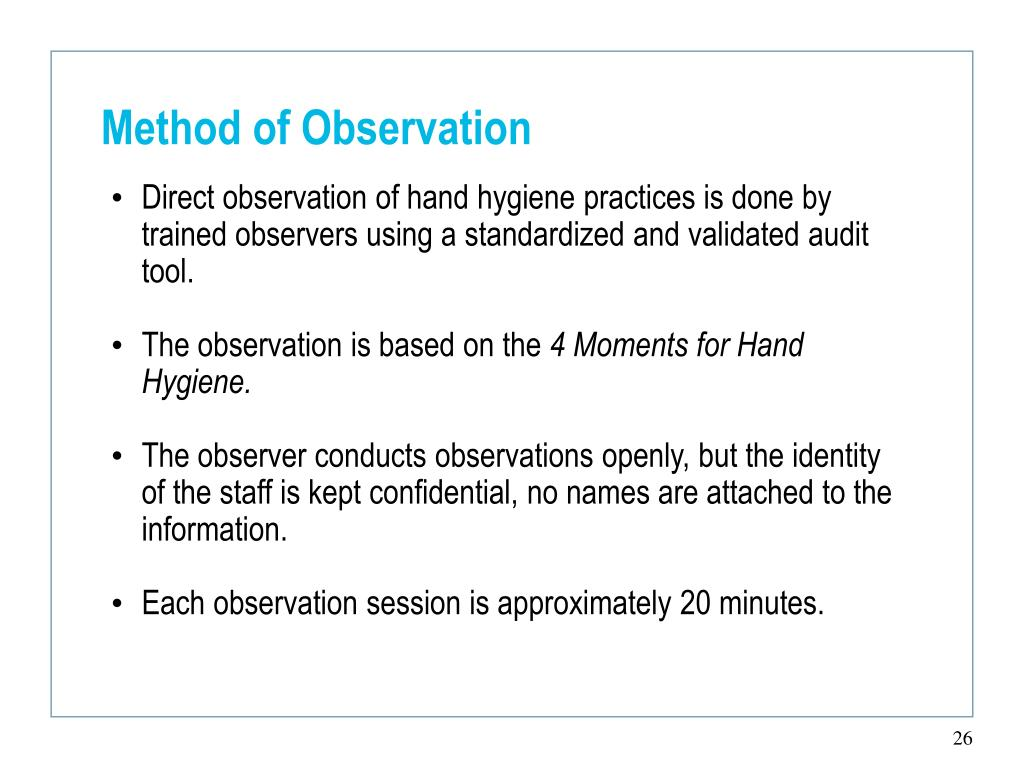 Method of Observation