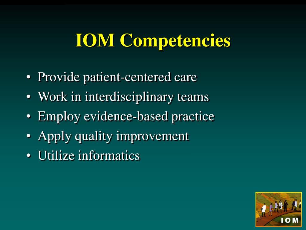 IOM Competencies