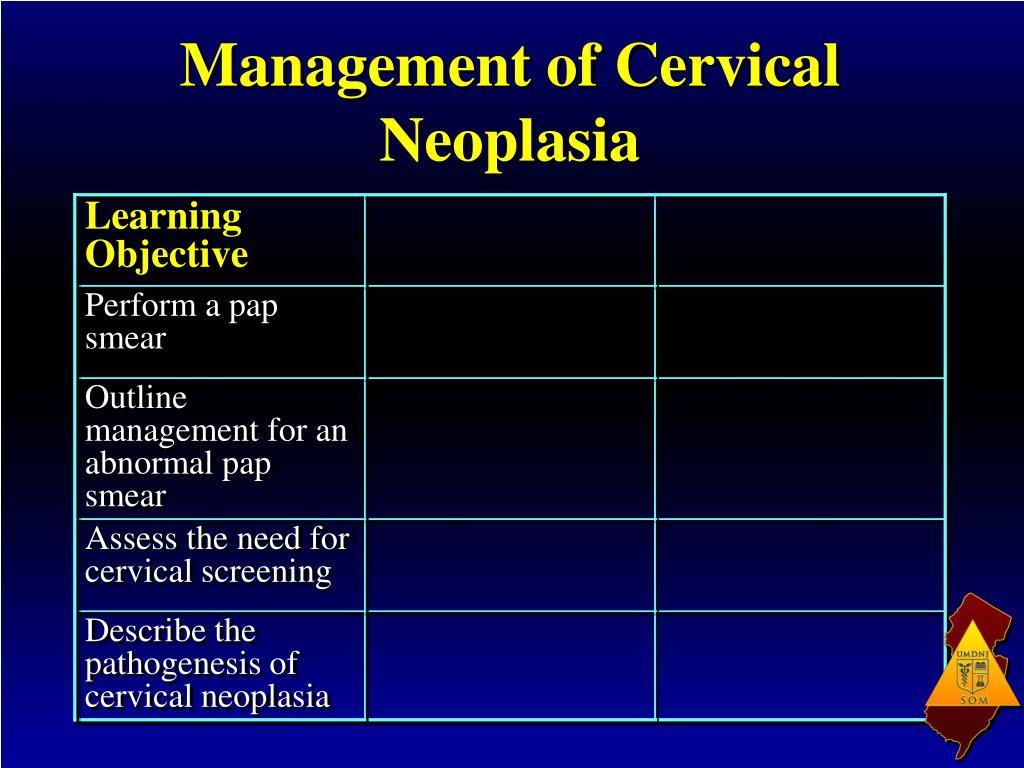 Management of Cervical Neoplasia