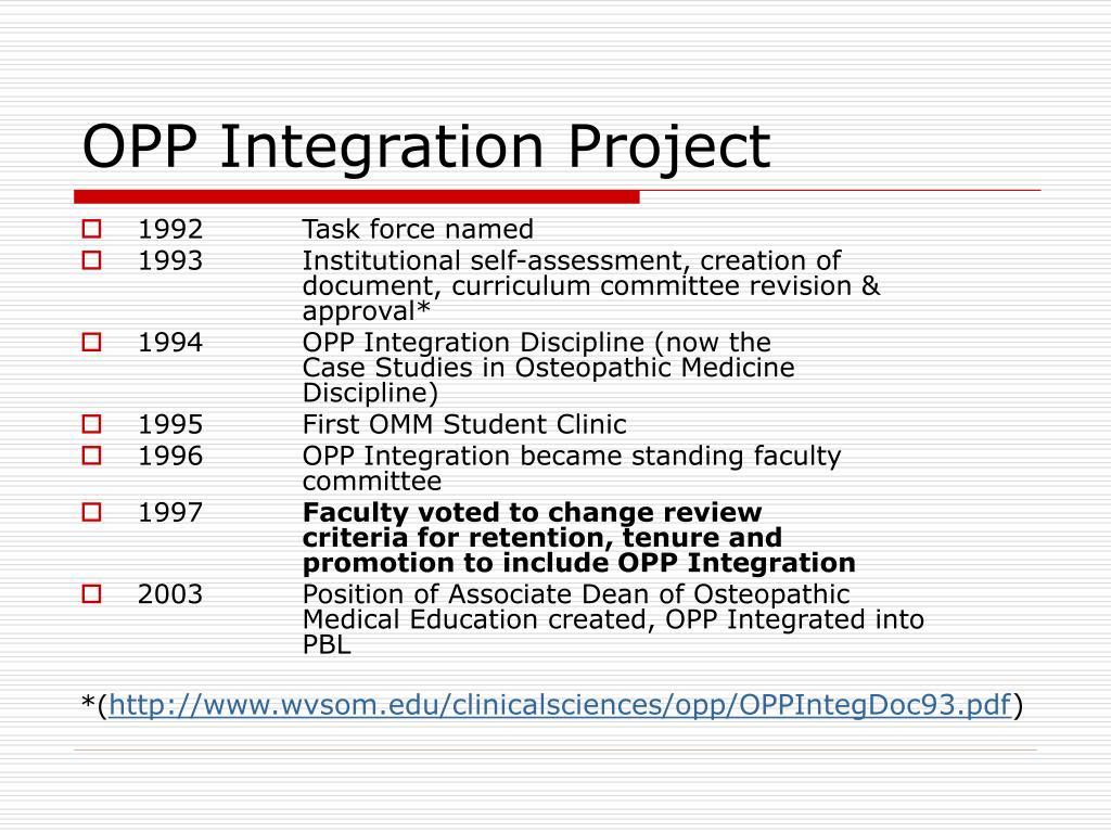 OPP Integration Project
