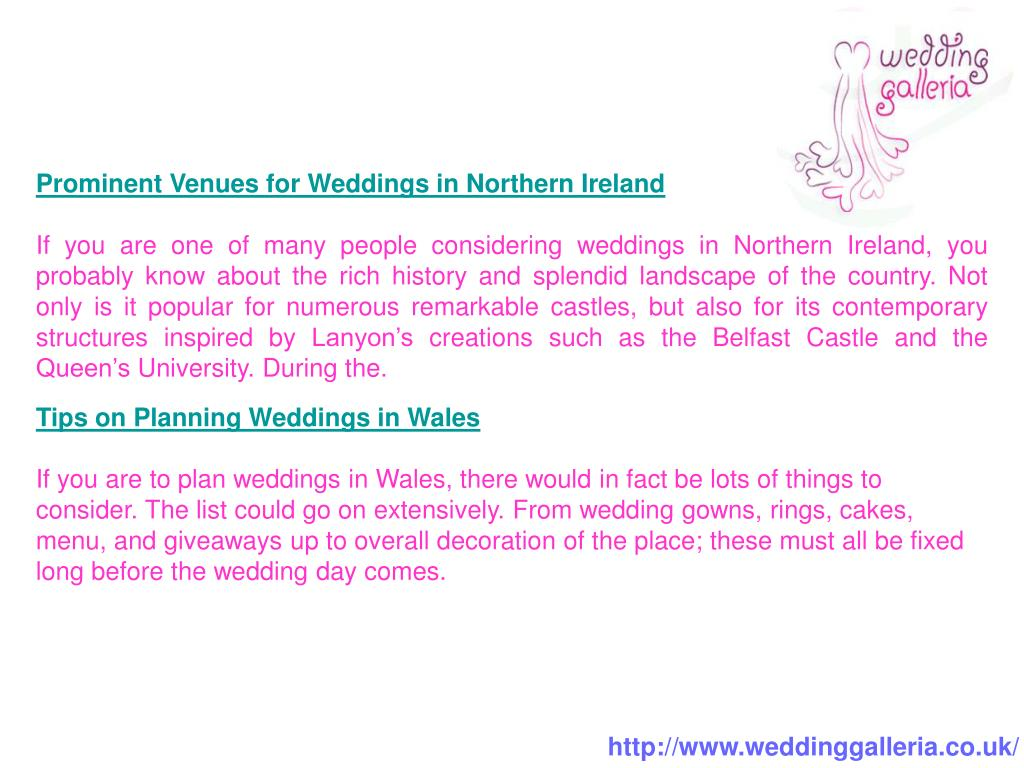 Prominent Venues for Weddings in Northern Ireland