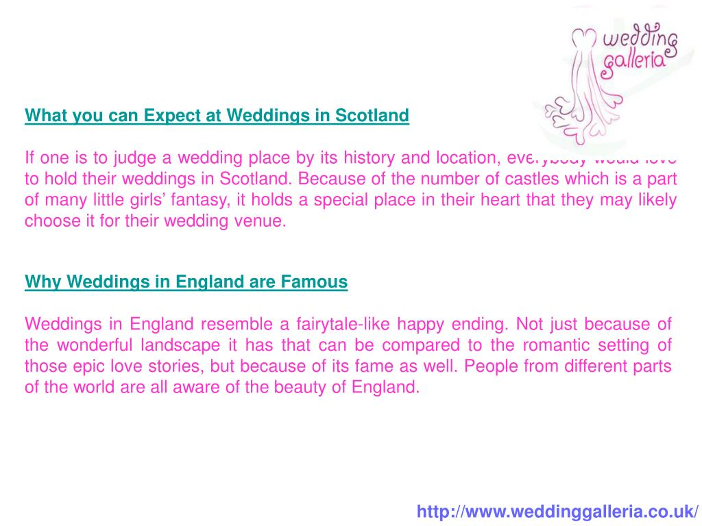 What you can Expect at Weddings in Scotland