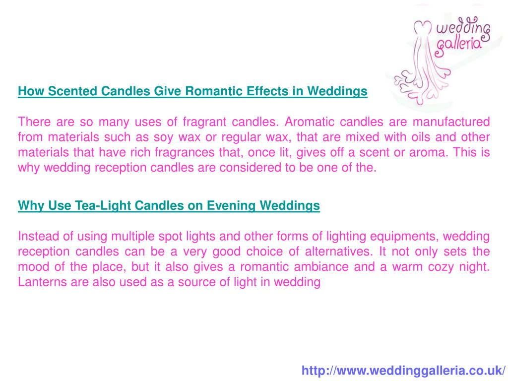 How Scented Candles Give Romantic Effects in Weddings