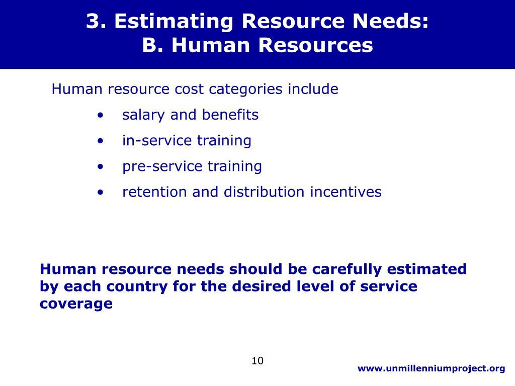 3. Estimating Resource Needs: