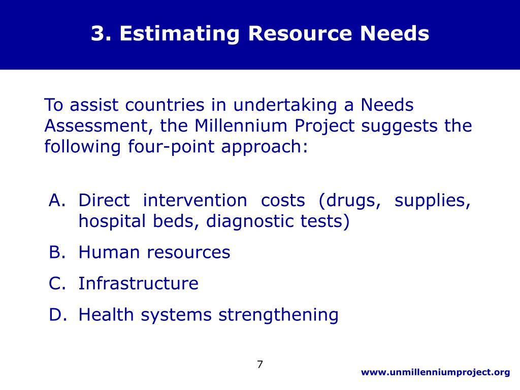 3. Estimating Resource Needs
