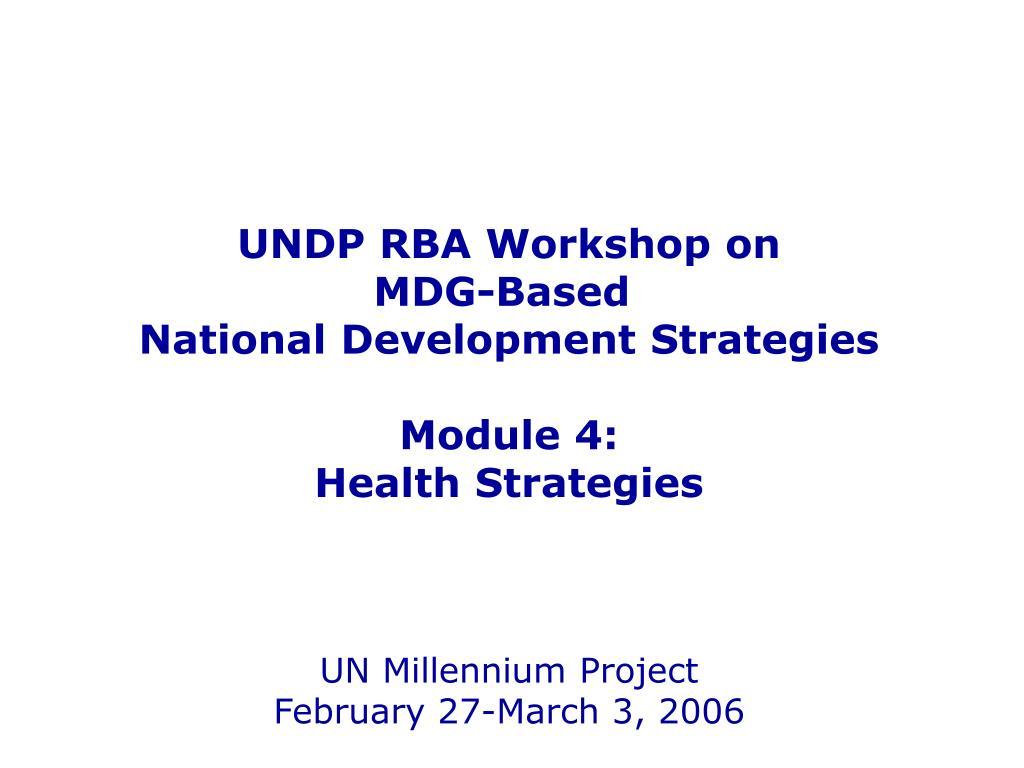 UNDP RBA Workshop on