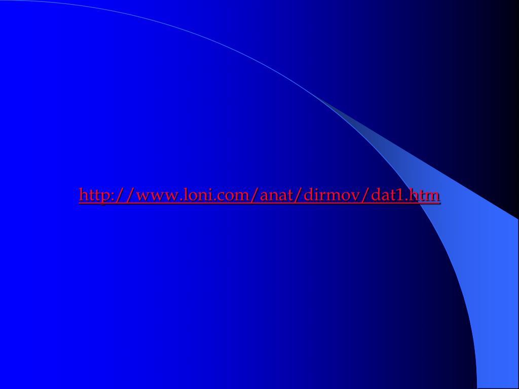 http://www.loni.com/anat/dirmov/dat1.htm