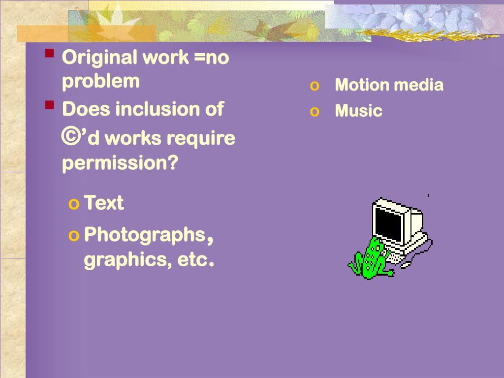 Original work =no