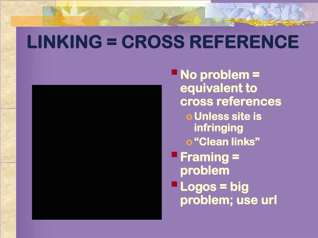 LINKING = CROSS REFERENCE