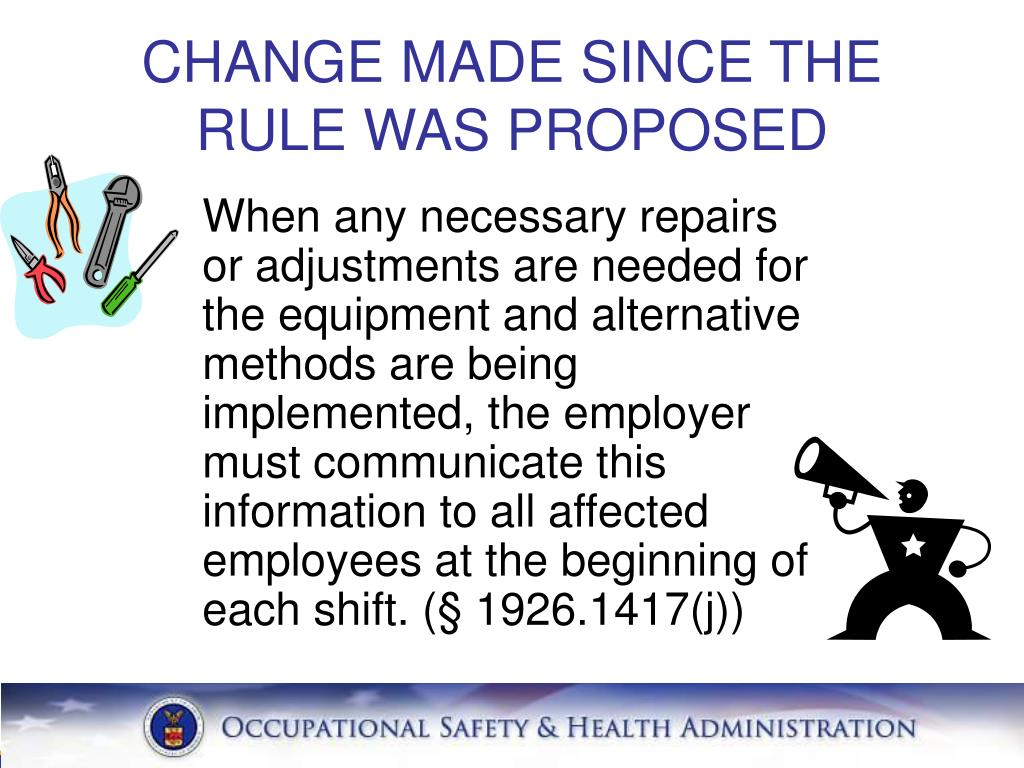 CHANGE MADE SINCE THE RULE WAS PROPOSED
