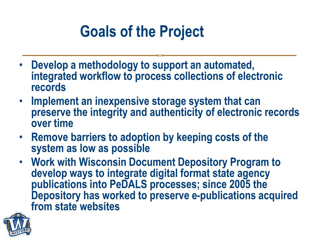 Goals of the Project
