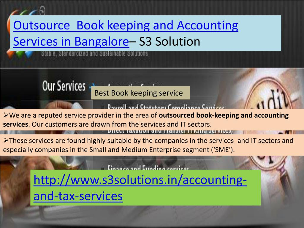 Outsource  Book keeping and Accounting Services in Bangalore