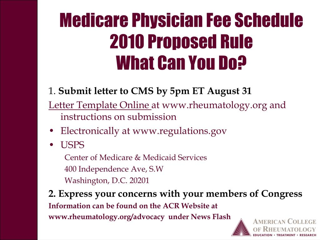 Medicare Physician Fee Schedule