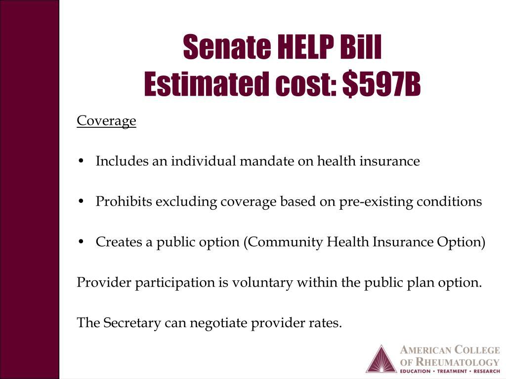 Senate HELP Bill
