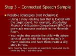 step 3 connected speech sample10