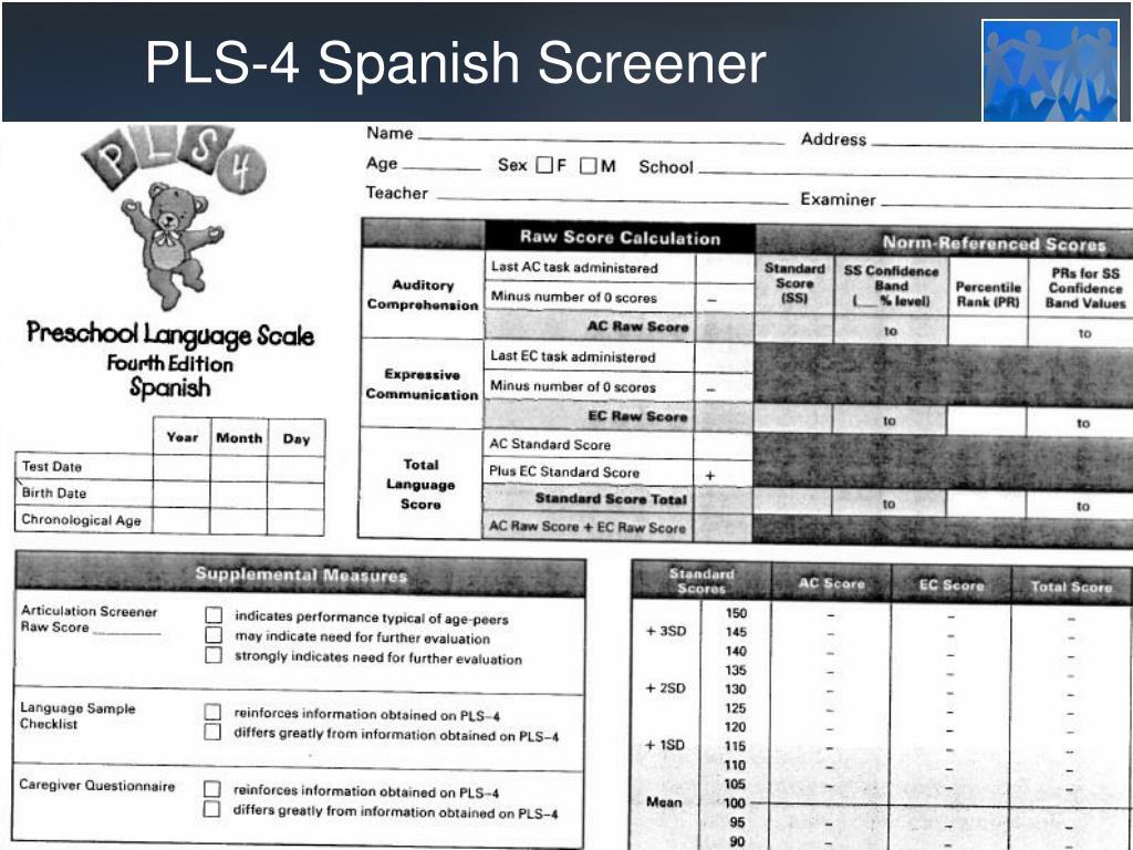 PLS-4 Spanish Screener