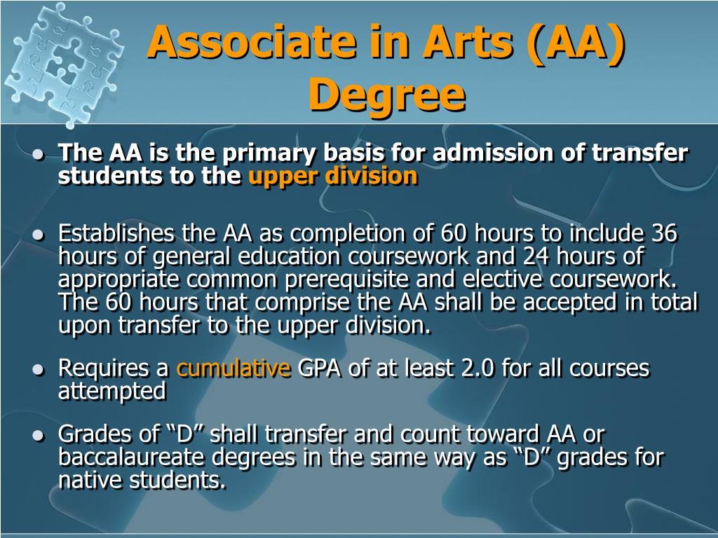 Associate in Arts (AA) Degree