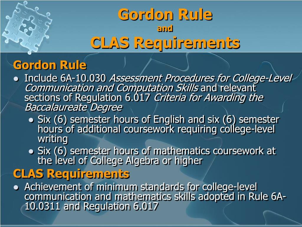 Gordon Rule