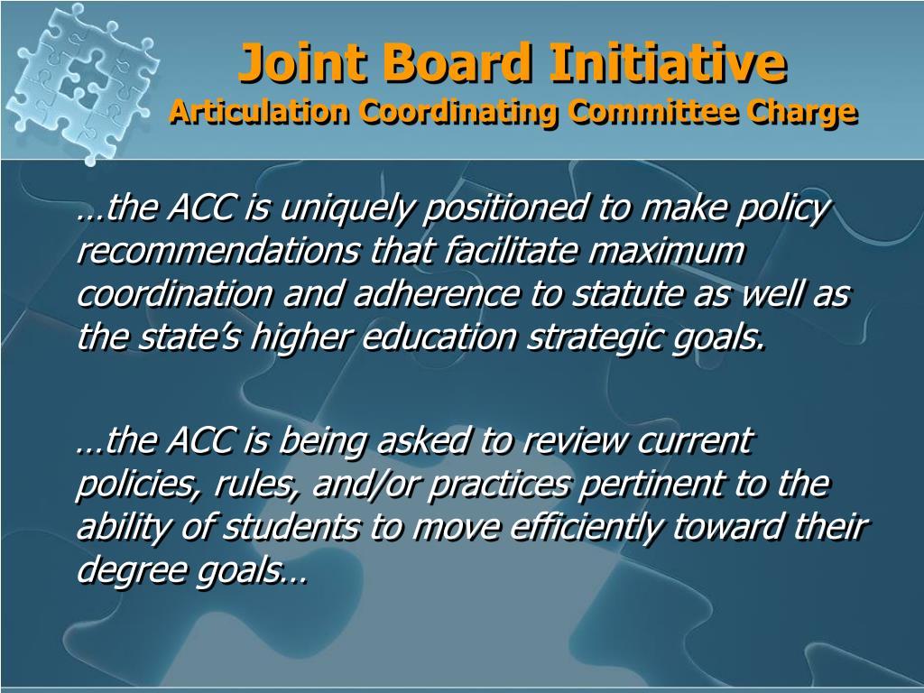 Joint Board Initiative