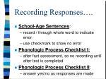 recording responses12