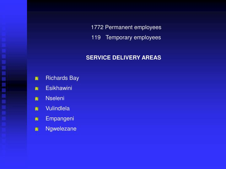 1772 Permanent employees