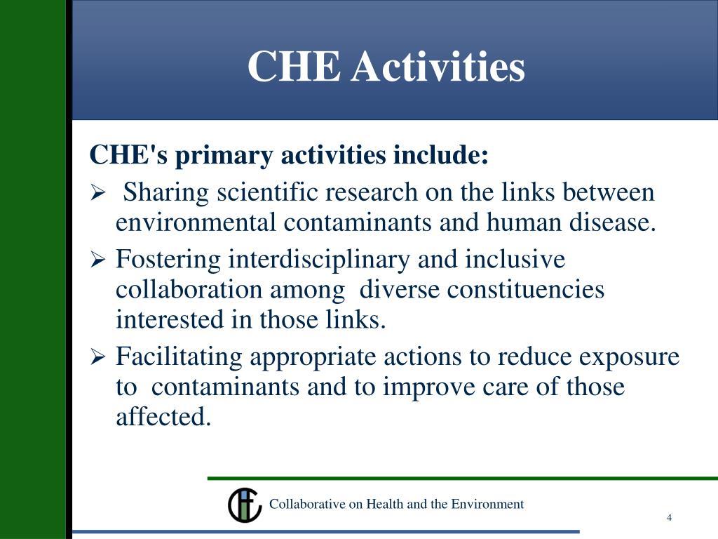 CHE Activities