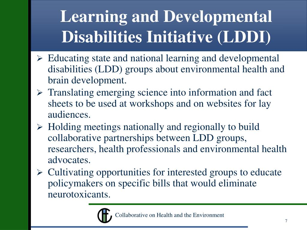 Learning and Developmental Disabilities Initiative (LDDI)