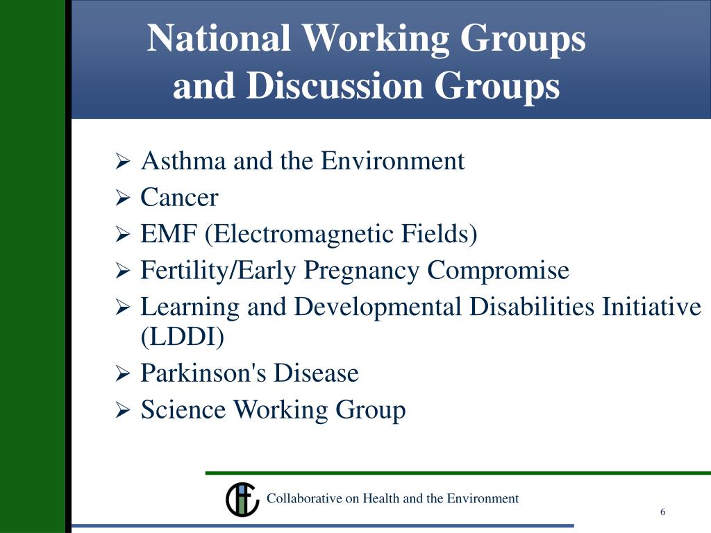 National Working Groups