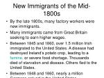 new immigrants of the mid 1800s