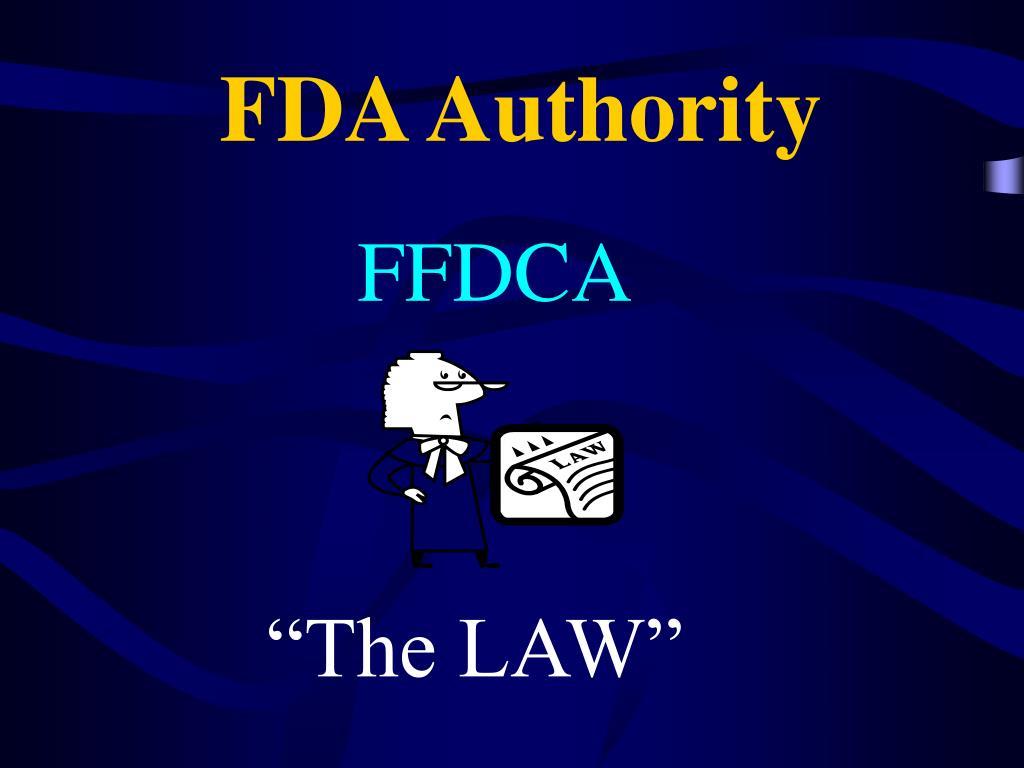 FDA Authority