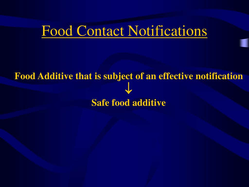 Food Contact Notifications