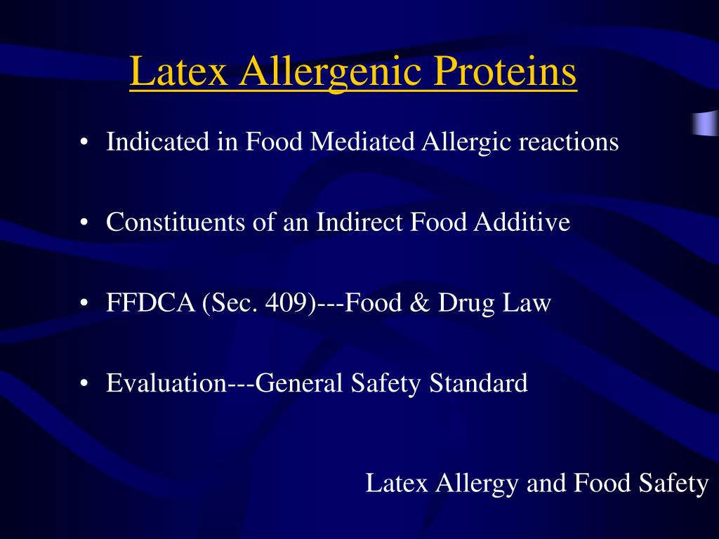 Latex Allergenic Proteins