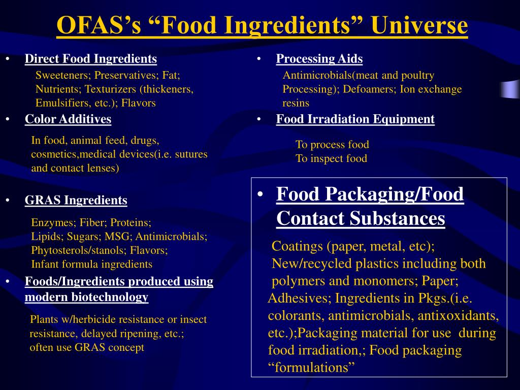 Direct Food Ingredients