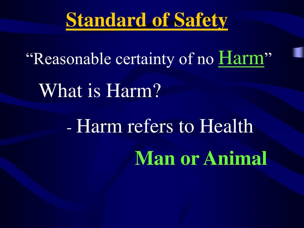 """Reasonable certainty of no"